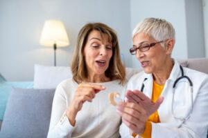 with hearing insurance, you won't have to worry about the cost of hearing aids